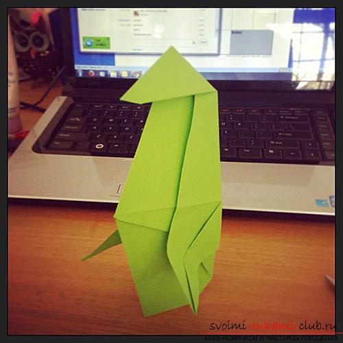 Оригами пингвин. Фото №3