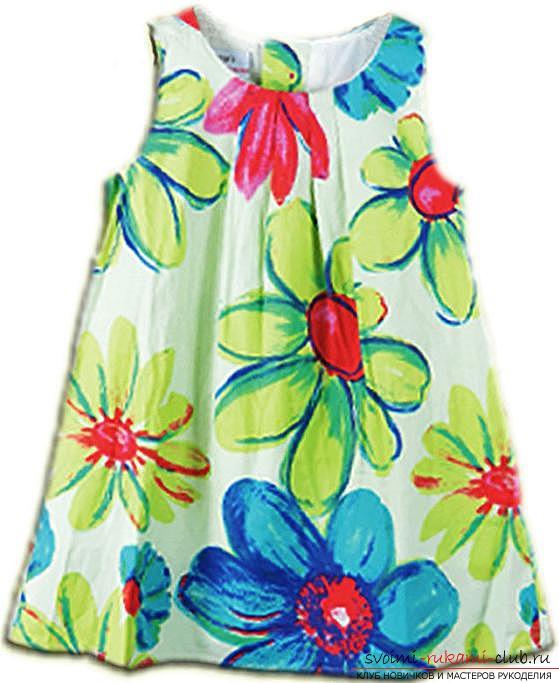 Легкая выкройка и пошив платья для девочки пяти лет. Фото №3