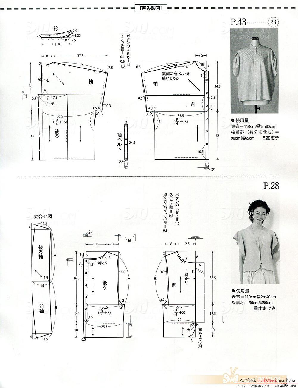 Фото выкроек женских моделей одежды. Фото №16