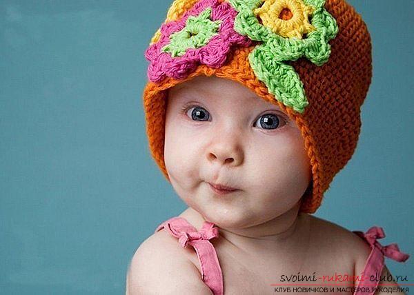 Выкройка чепчика для новорожденного малыша. Фото №1