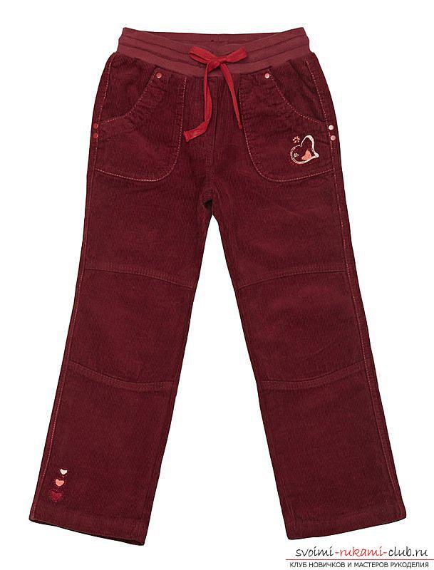 Несложная выкройка брюк для девочки подойдет для начинающих закройщиц, которые хотят научиться кроить