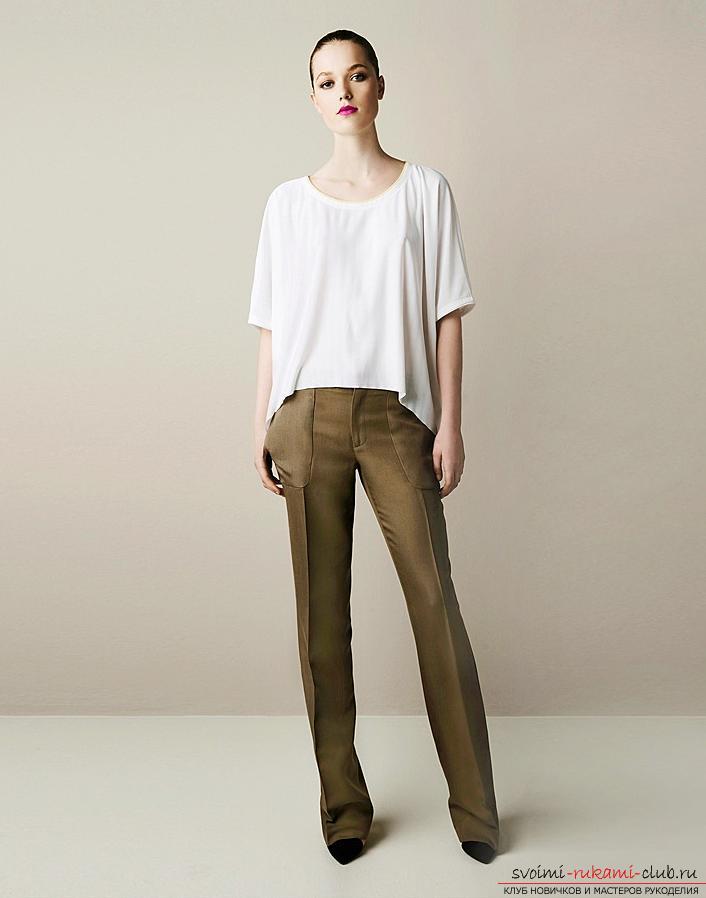 Выкройка классических брюк для женщин. Фото №1