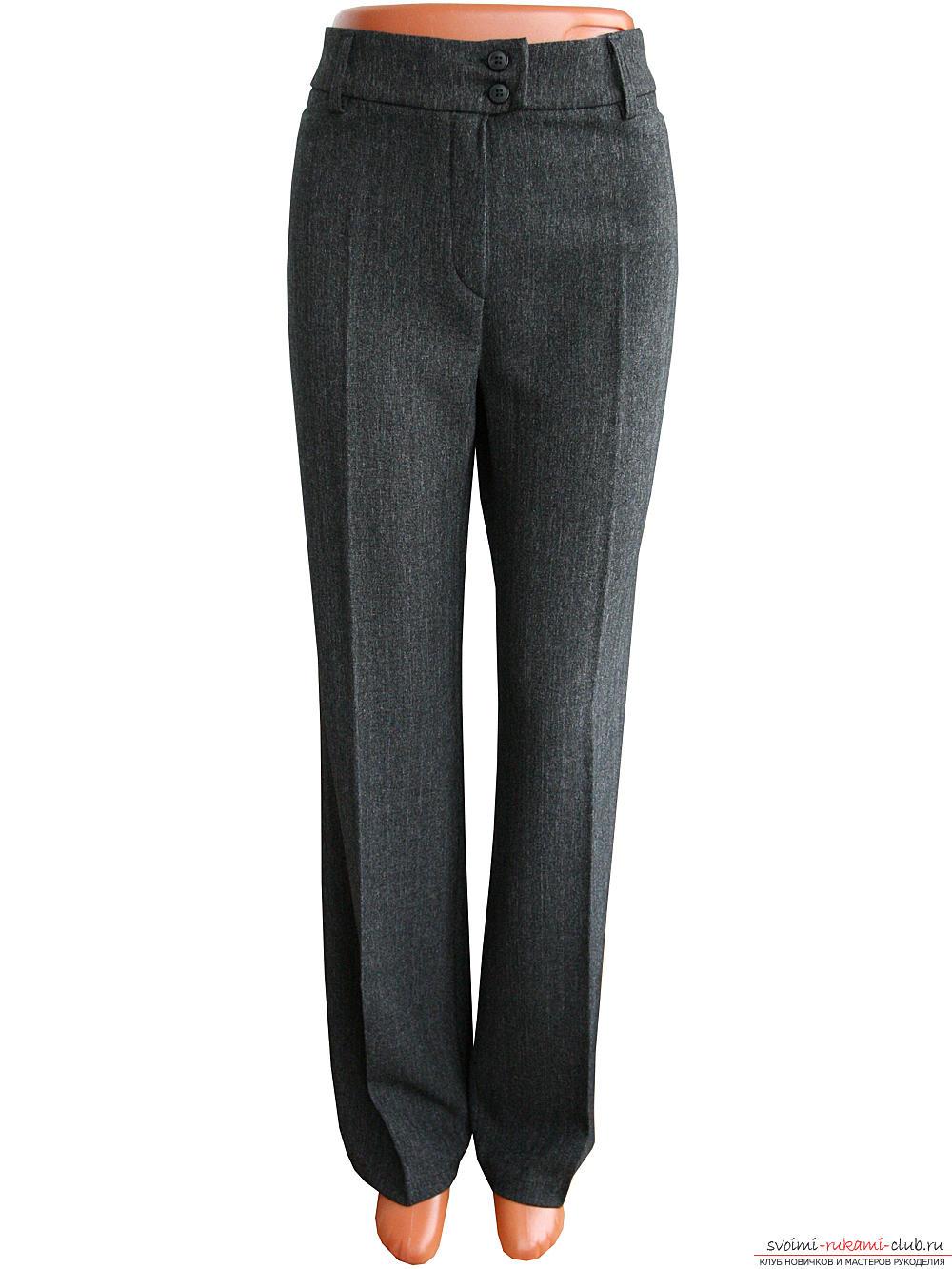 Инструкция по построению выкройки женских брюк классической модели поможет самостоятельно сделать чертеж