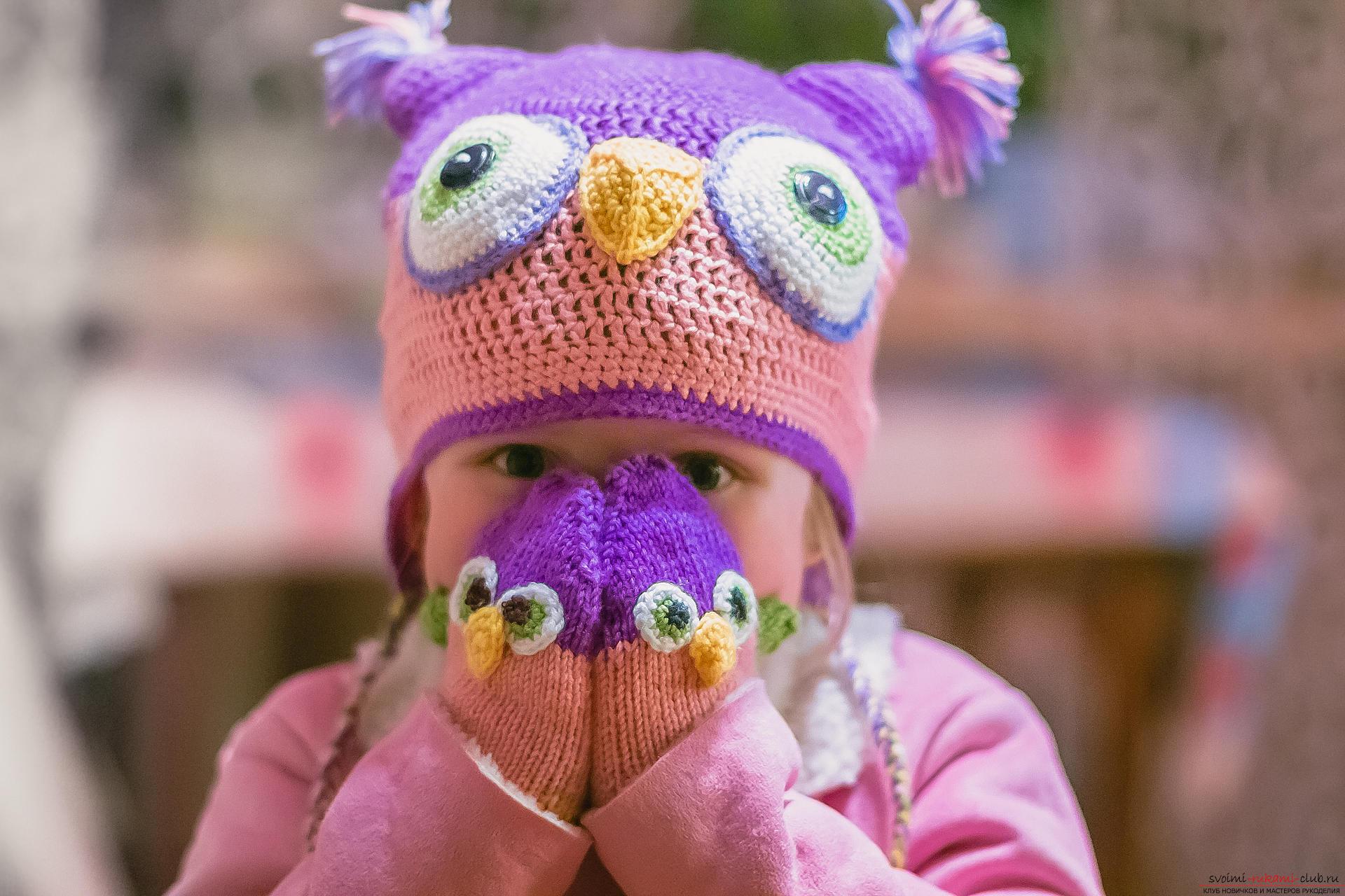 вязание детских варежек схема