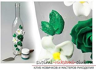 Как украсить бокалы полимерной глиной и как сделать кольца для салфеток из термопластики.. Фото №9