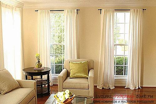 Фото примеры пошива оригинальных штор из льна. Фото №4