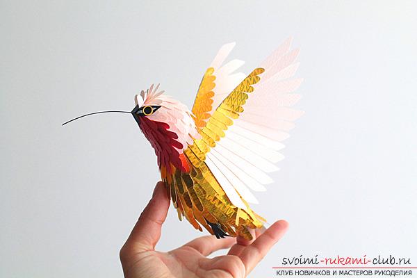 Бумажная птичка своими руками
