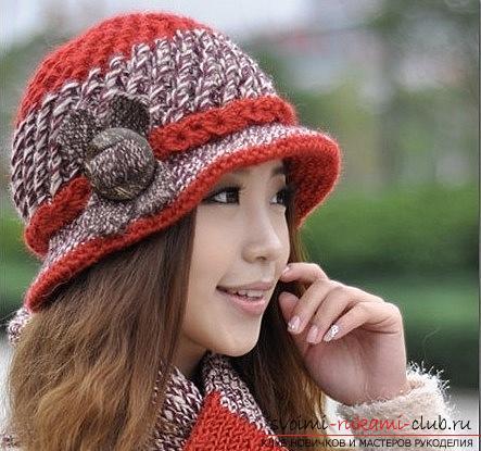 Схемы и описание вязания своими руками крючком теплых женских шляпок.. Фото №3