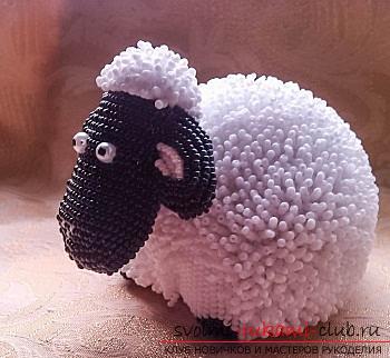 Два мастер класса по созданию овечек из бисера своими руками с фото и описанием