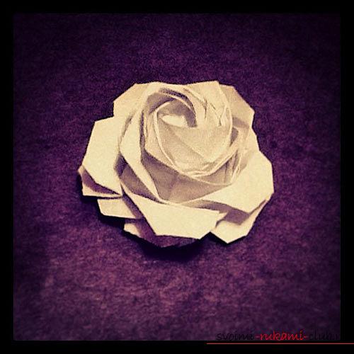 Советы для создания оригами-розы своими руками. Фотографии для работы.. Фото №2