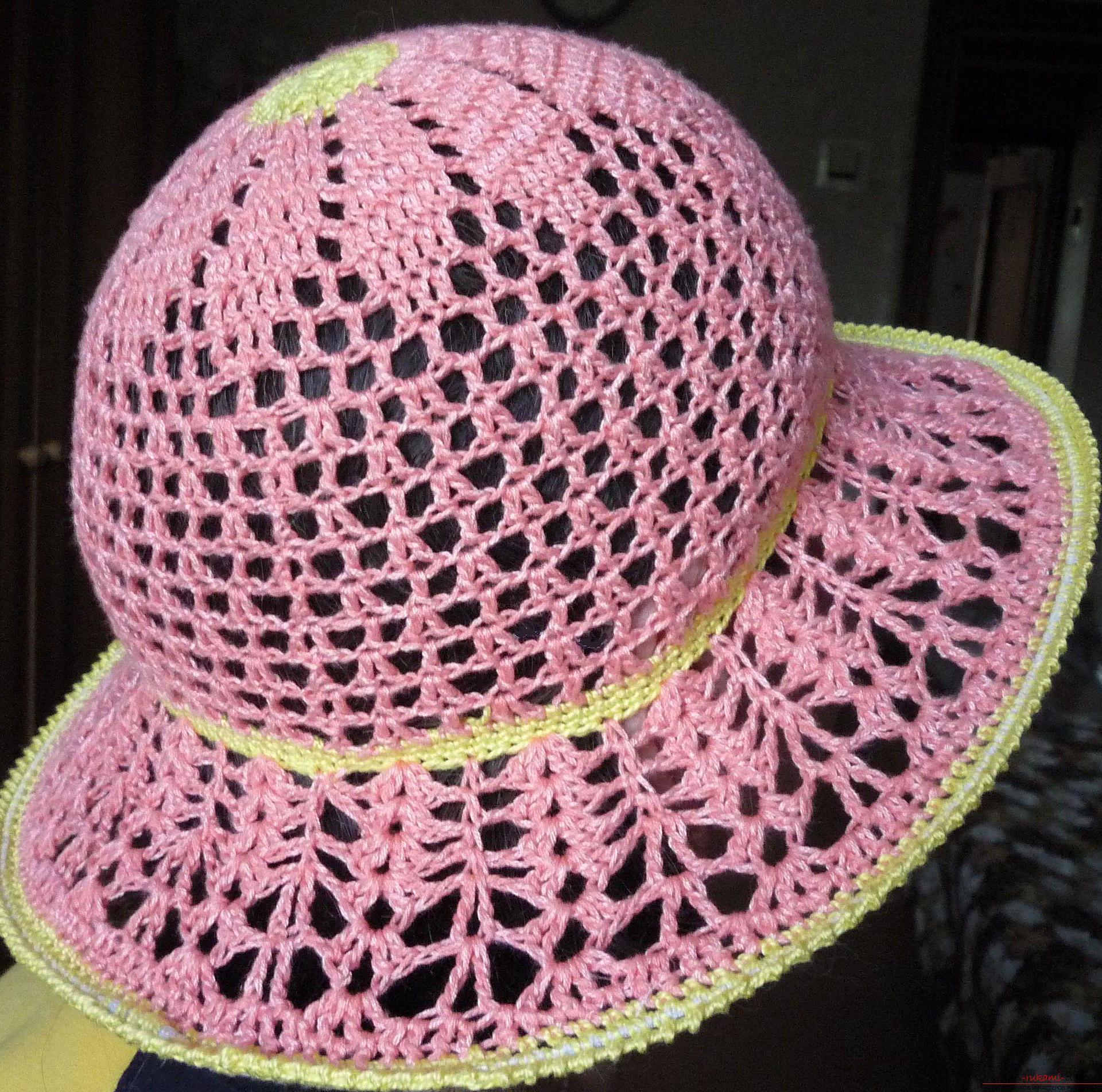 Вязание крючком шляпок видео уроки