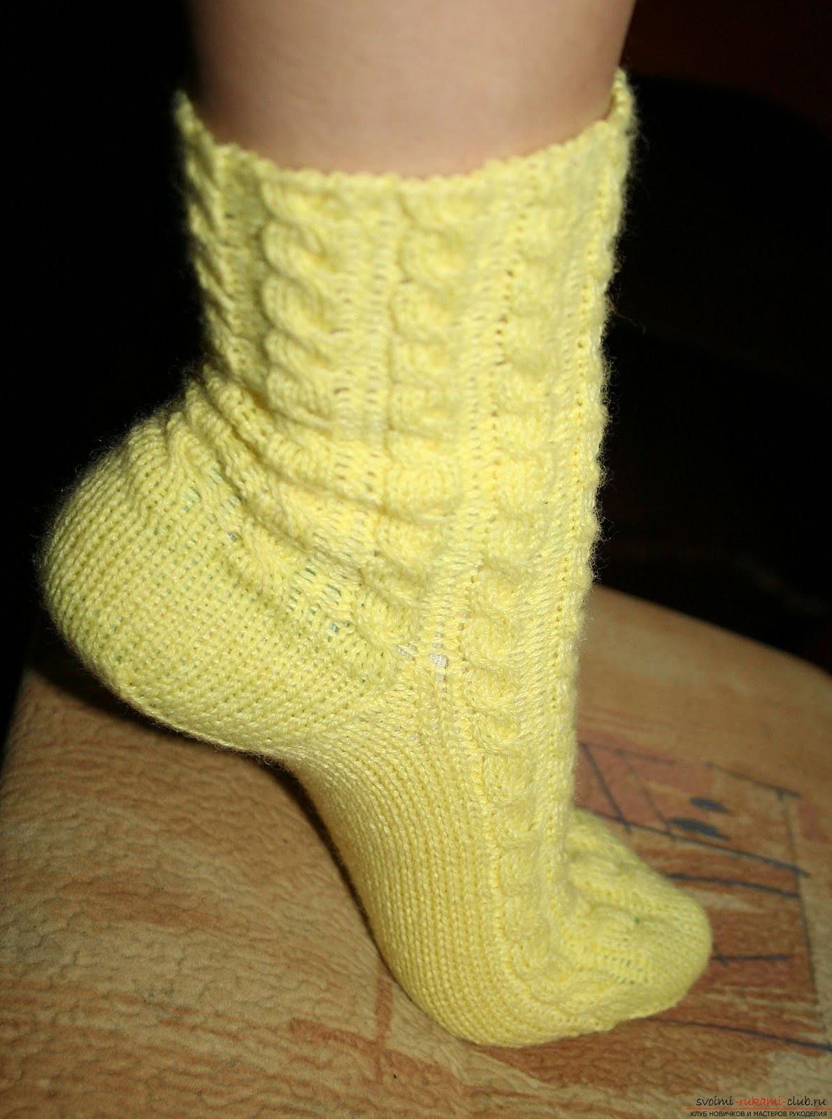 ажурные носки спицами. Фото №4