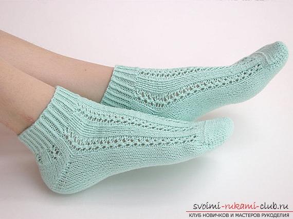 ажурные носки спицами. Фото №3