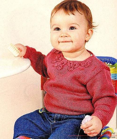 детская кофта спицами. Фото №1