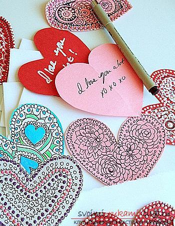 валентинки из бумаги. Фото №4