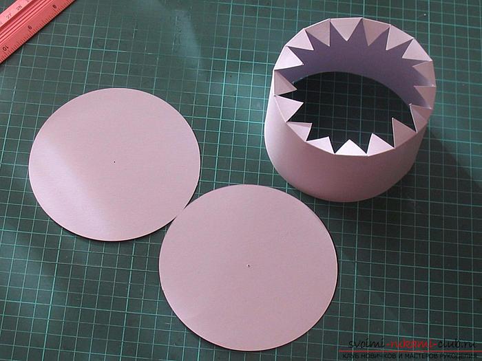 Как сделать круглый торт из картона своими руками