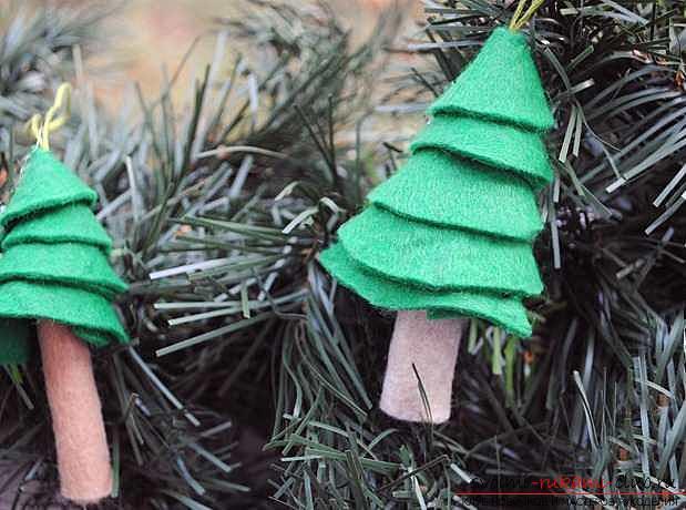 Новогодние игрушки из фетра своими руками: мастер-классы со схемами и выкройками