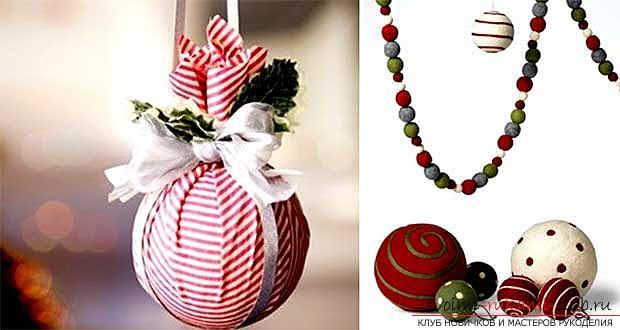 Материалы для новогодних шаров своими руками