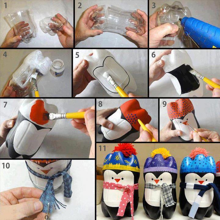 Поделки из пластиковых бутылок своими руками пошаговое фото