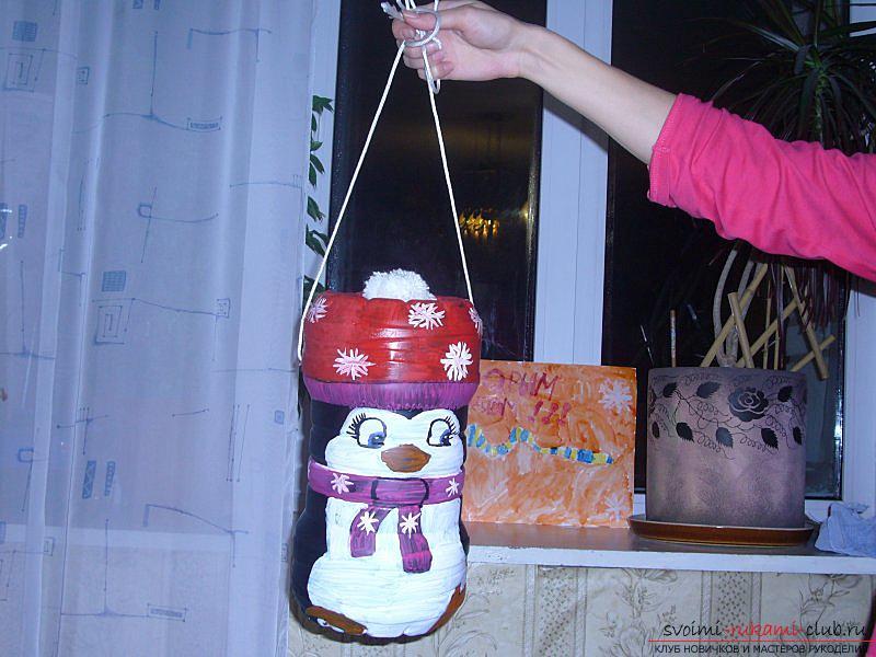 Большие новогодние игрушки на уличную елку своими