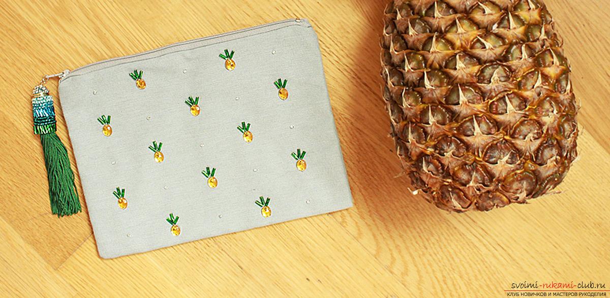 Чехол с ананасами своими руками