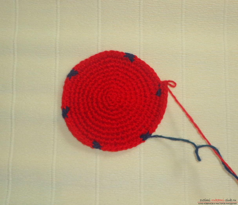 Пошаговое вязание прихваток