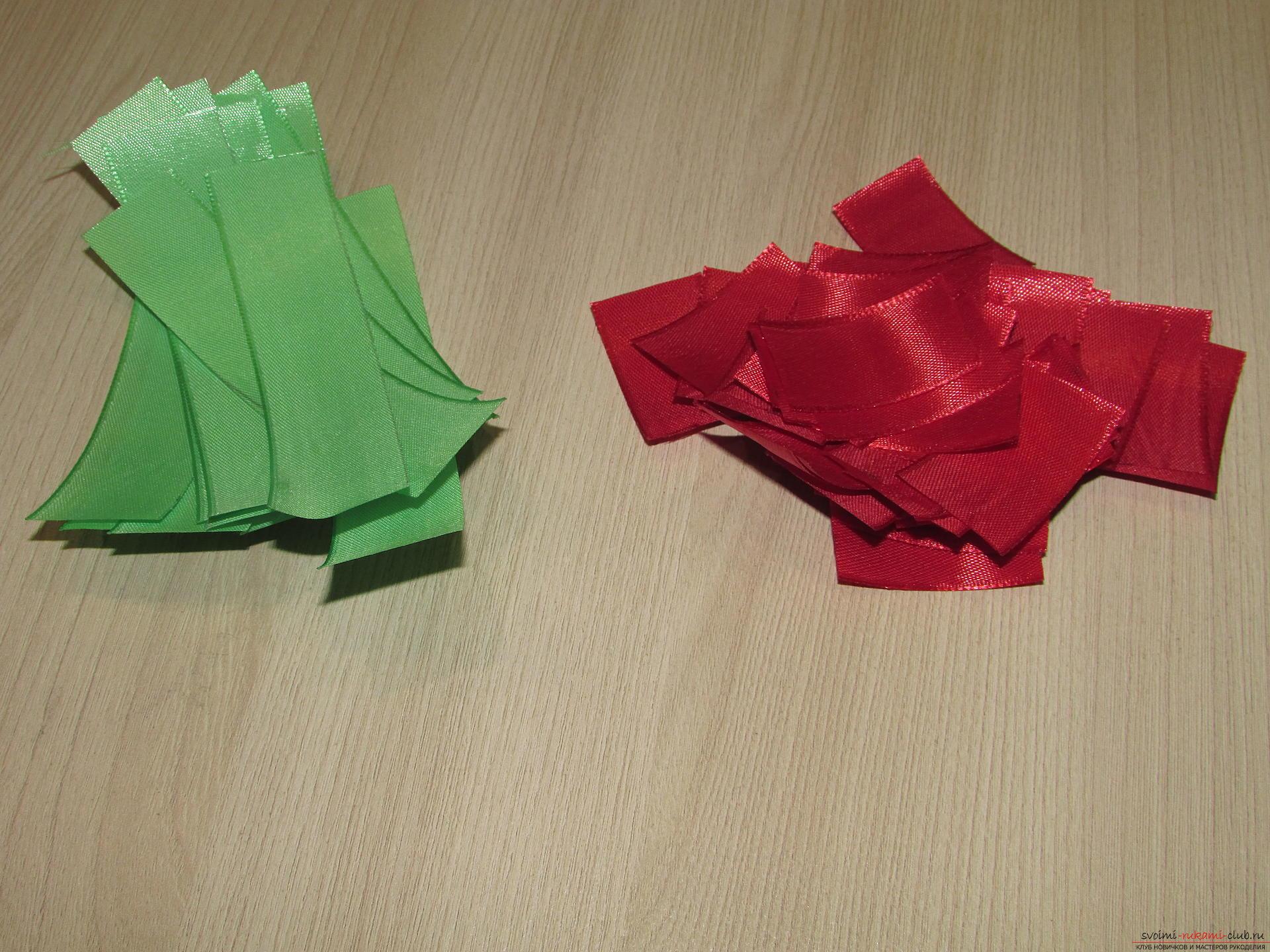 Этот мастер-класс научит как сделать тюльпаны из атласных лент своими руками.. Фото №2