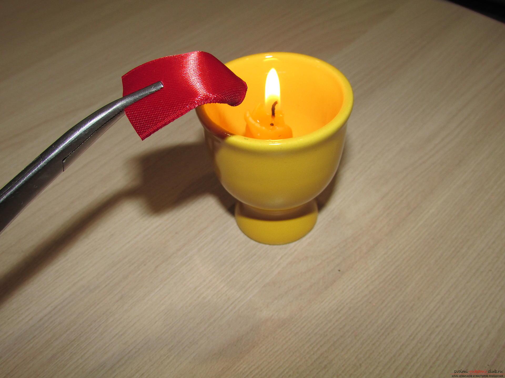Этот мастер-класс научит как сделать тюльпаны из атласных лент своими руками.. Фото №4