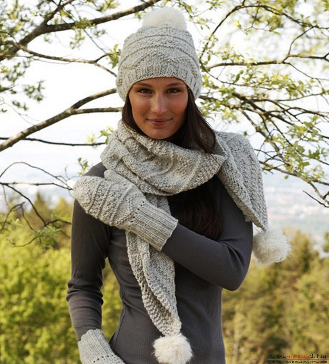 Как связать шарф крупной вязки схема