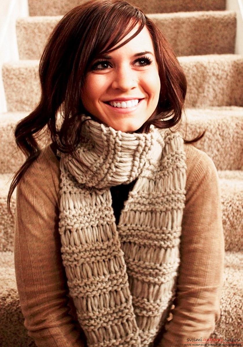 женские шарфы схемы для вязания