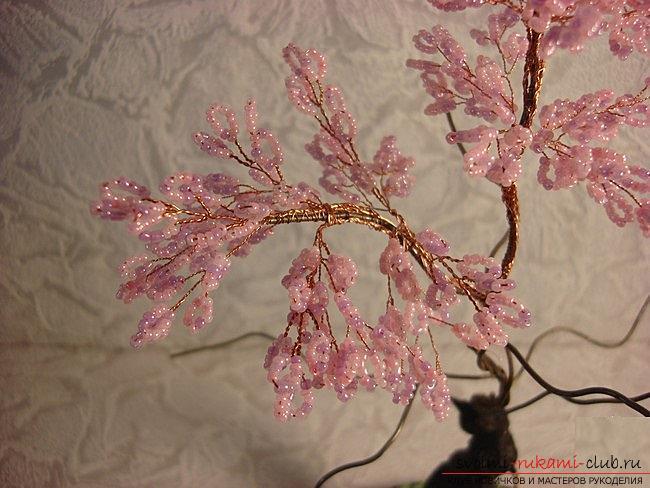 Как сплести сакуру из бисера, подробные мастер классы с пошаговыми фото и описанием.. Фото №20