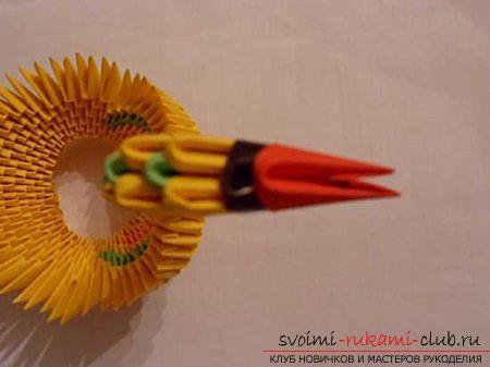 Оригами павлина своими руками: схема и описание. Фото №15