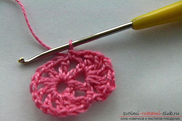 вязание оригинальных цветов крючком для начинающих. Фото №11