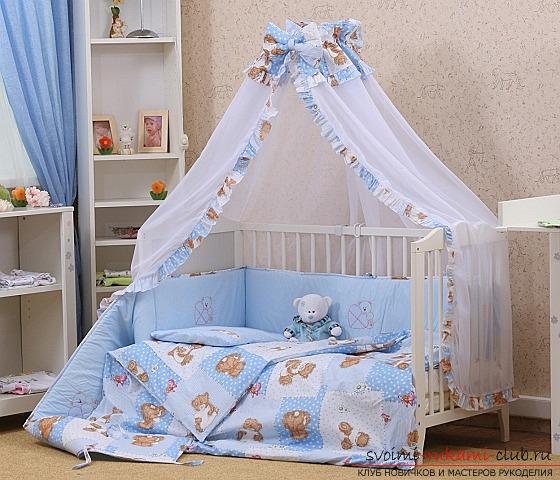 балдахин на детскую кроватку шить