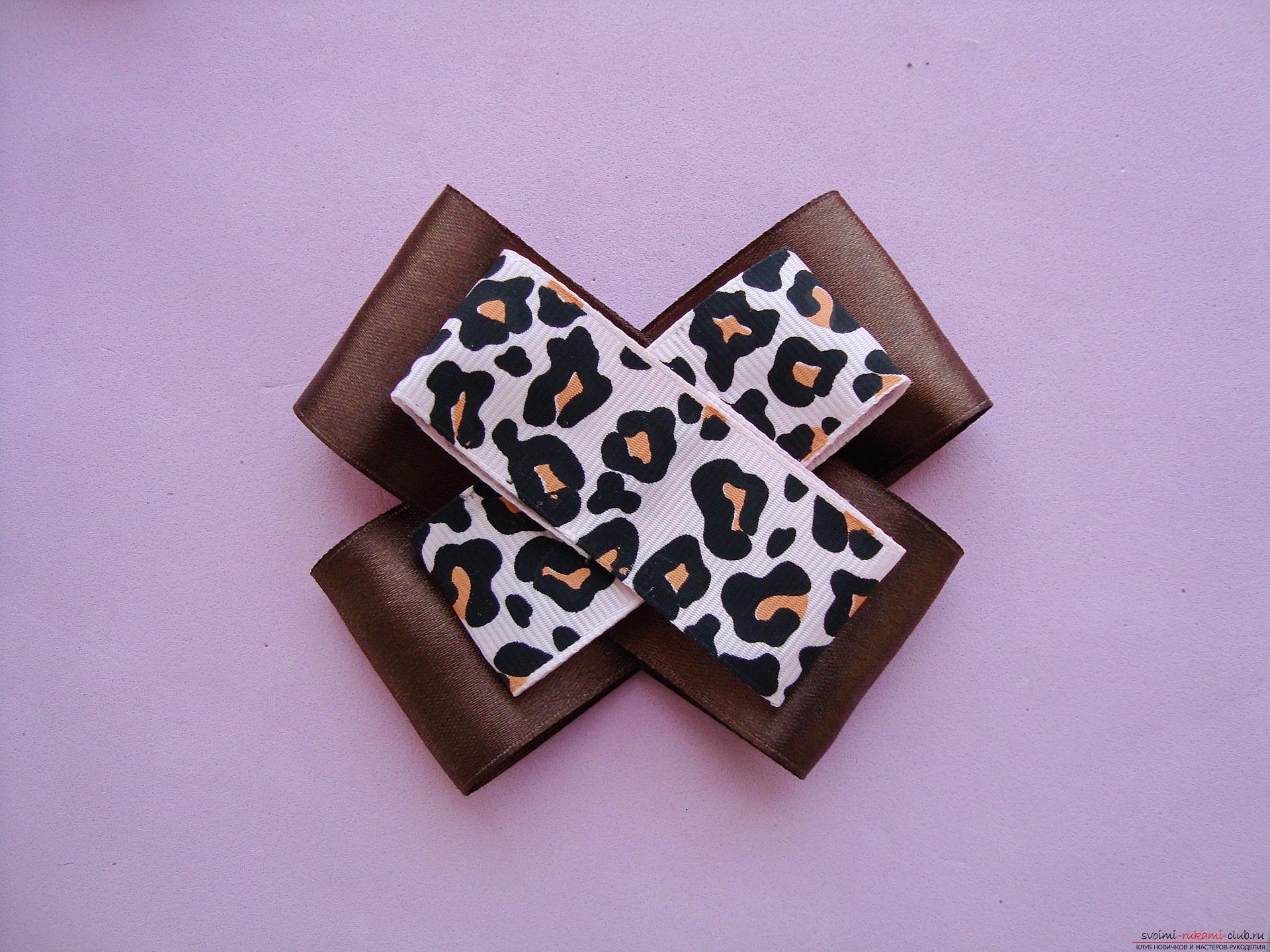 Пошаговая фото-инструкция по изготовлению бантиков с цветами в технике канзаши. Фото №15