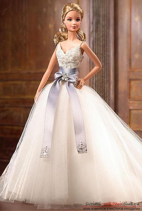 Выкройка свадебного платья на барби