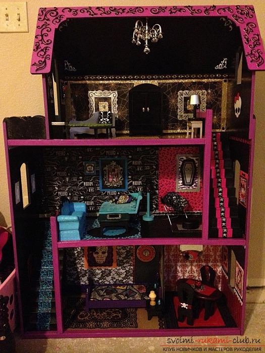 Кукольный домик для монстер хай своими руками