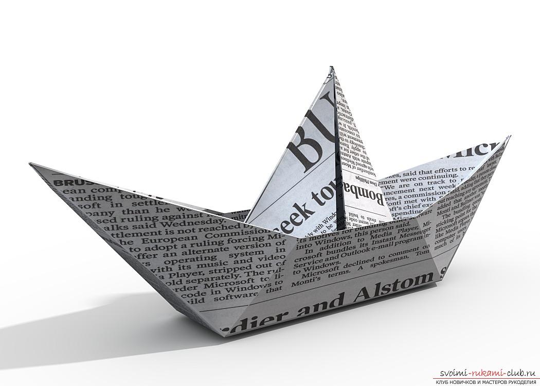 Сделать красивый кораблик из бумаги.</p> </div> <p> Схема оригами по фотографиям.. Фото №1″ width=»600″/> </p> <p>После нужно свернуть все свободные уголки внутрь, для того, чтобы вышел трегуольник формы.</p> <p> Затем, необходимо свести углы у основани для трегуольника скопом.</p> <p> Таким образом, у вас должен получится квадратный вариант.</p> <p>Затем, необходимо подогнуть нижние углы при двух сторонах наверх, чтобы в результате опять вышел трегуольник, который будет подобием нашего будущего кораблика.</p> <p> Затем, вам требуется свести углы у оснований для треугольника, опять вместе.</p> <p> Чтобы снова <strong>получился квадрат.</strong> </p> <p><strong></p> <div style=