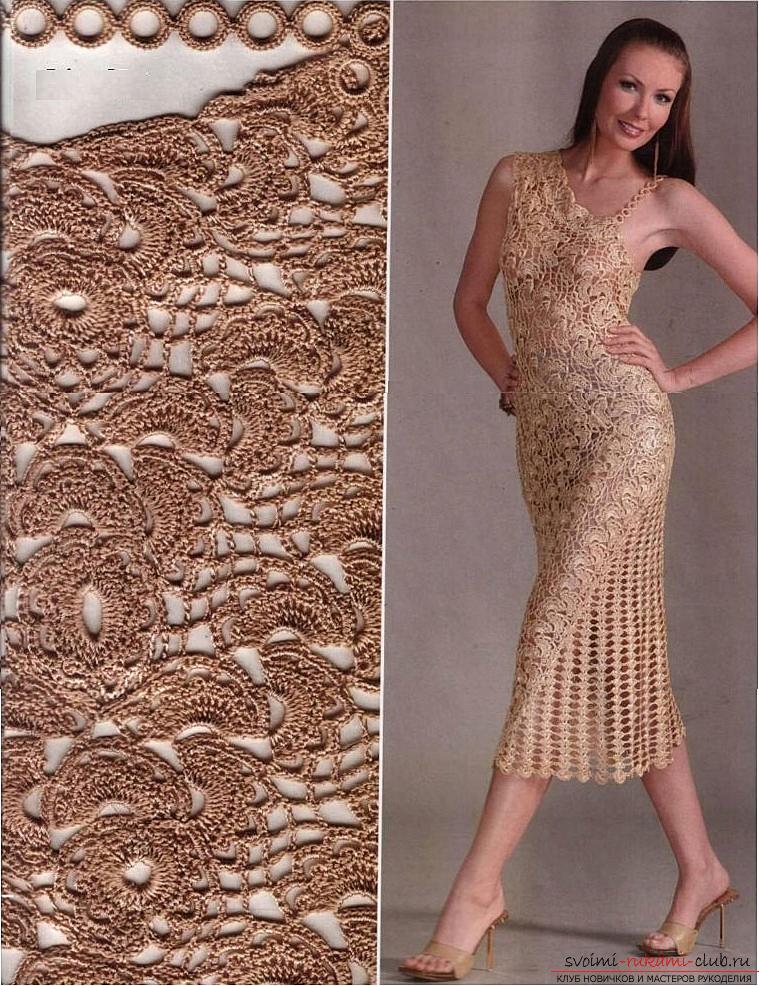 Вязание крючком схемы модели бесплатно 2011 шикарные ажурные платья сарафаны