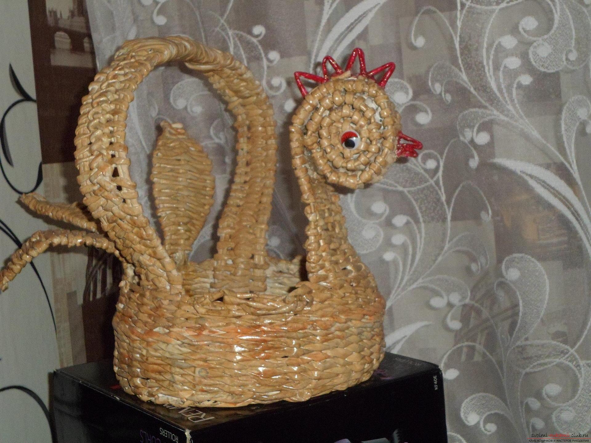 Курица из газетных трубочек с пошаговым фото