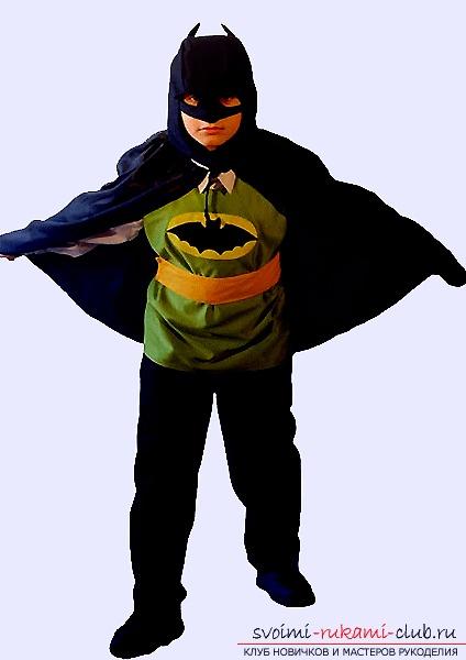 Яркий карнавальный костюм Бэтмена своими руками. Фото №1