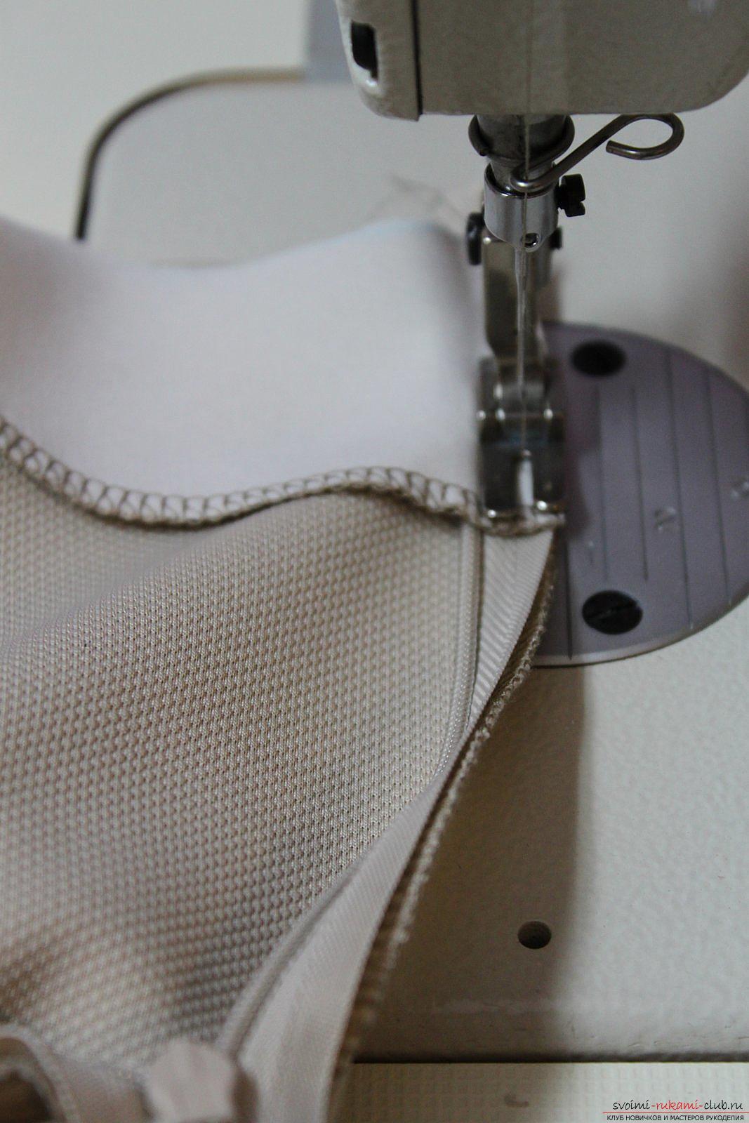 Этот подробный мастер-класс с фото и выкройкой научит шитью своими руками блузки с баской.. Фото №27