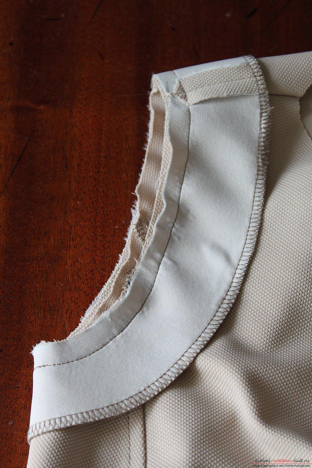Этот подробный мастер-класс с фото и выкройкой научит шитью своими руками блузки с баской.. Фото №16
