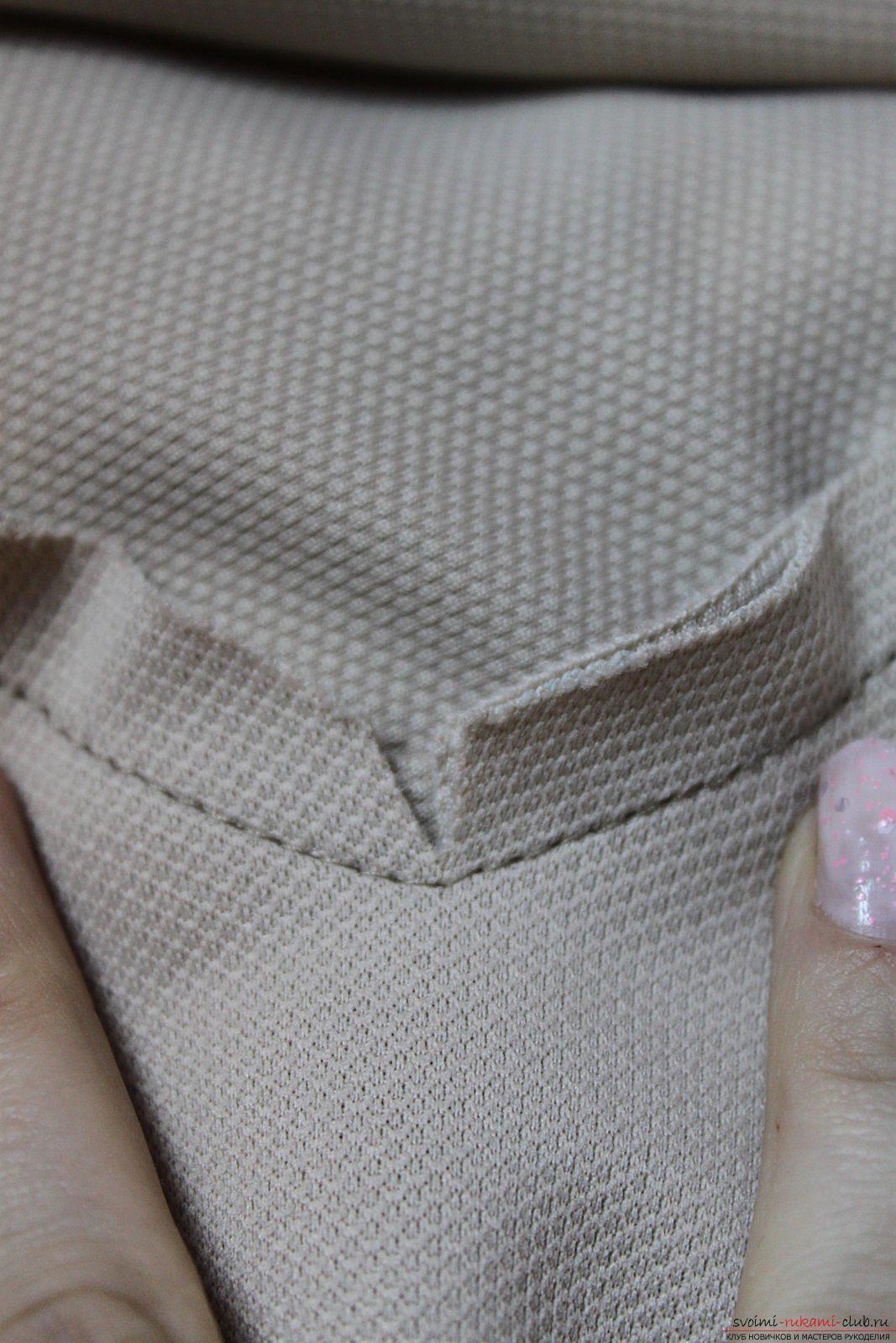 Этот подробный мастер-класс с фото и выкройкой научит шитью своими руками блузки с баской.. Фото №29