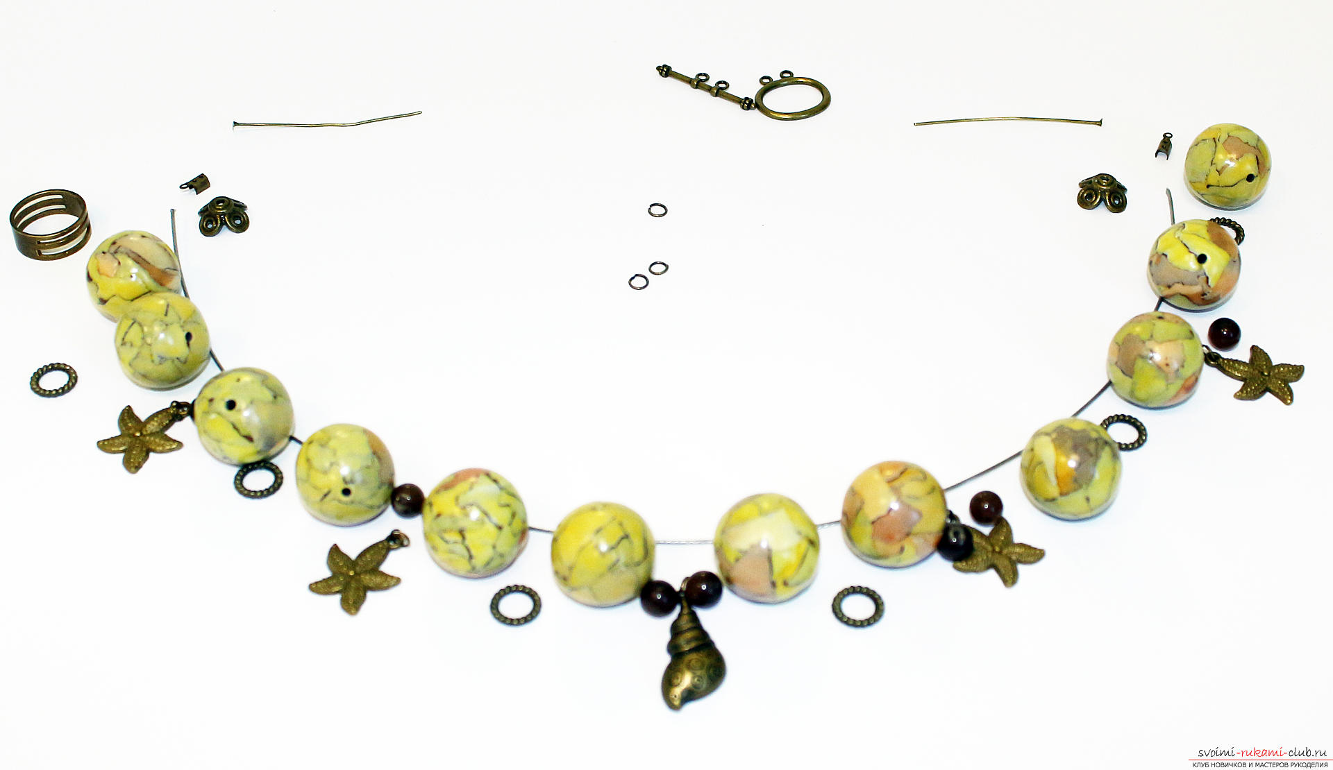 Мастер-класс: браслет плетёный с крупными бусинами Ярмарка 89