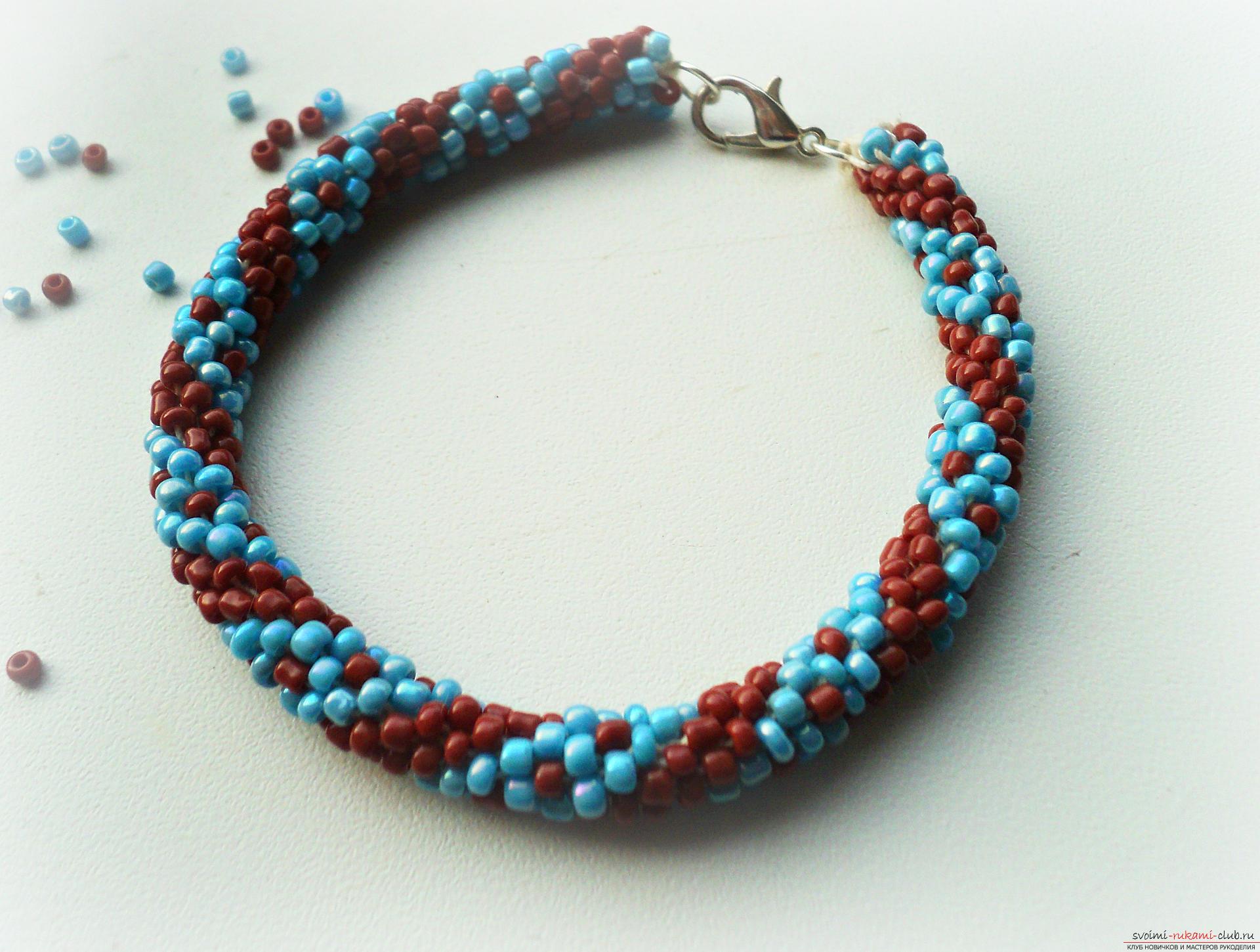 Как сделать весенний браслет из цветов Плетение 64