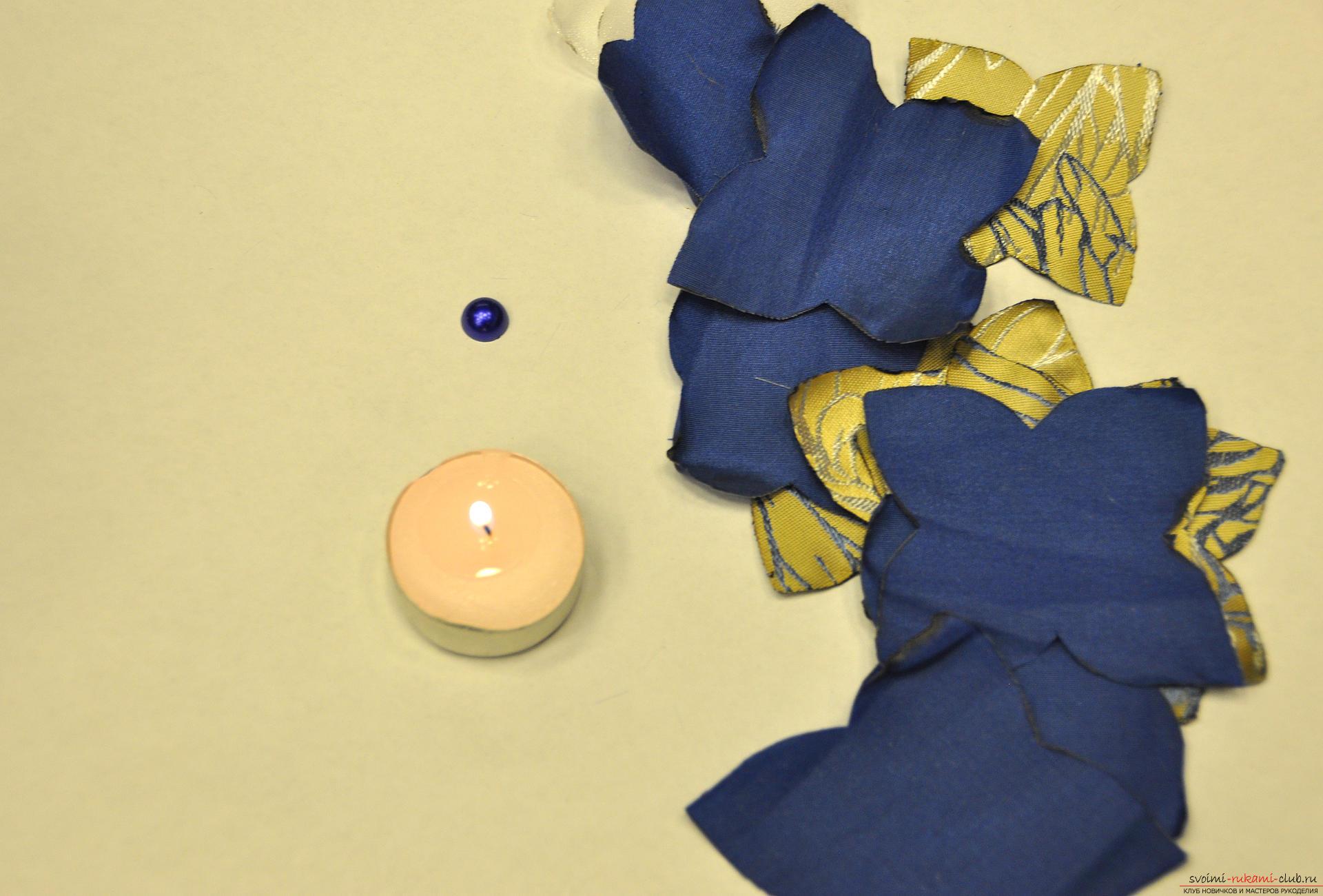 Брошь-цветок своими руками из органзы