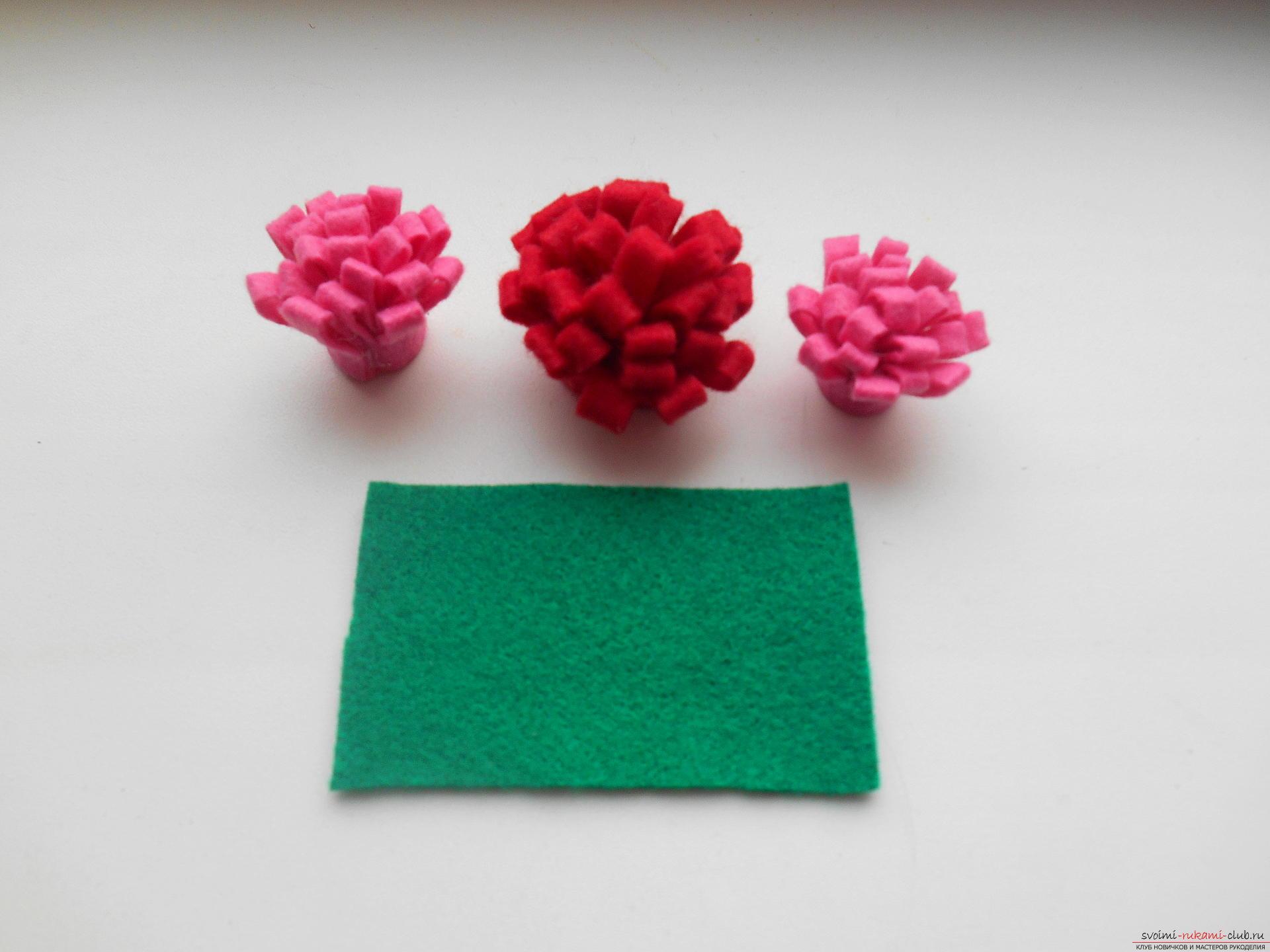 Цветы из фетра с пошаговым мастер класс