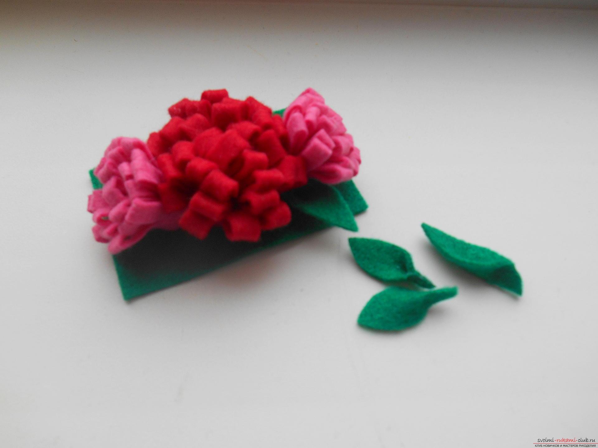 Из фетра цветы своими руками выкройки фото