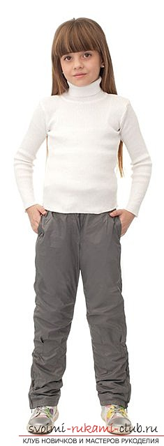Как сшить стильные брюки для девочки по выкройке